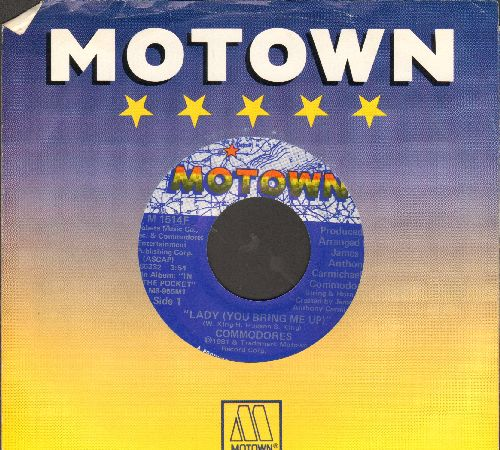 Commodores - Lady (You Bring Me Up)/Getting' It (with Motown company sleeve) - NM9/ - 45 rpm Records