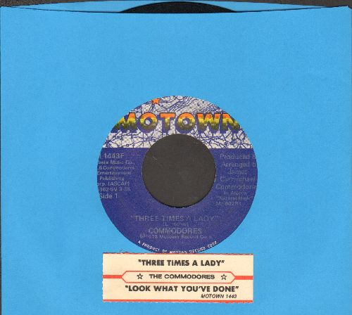 Commodores - Three Times A Lady/Look What You've Done To Me (with juke box label) - EX8/ - 45 rpm Records