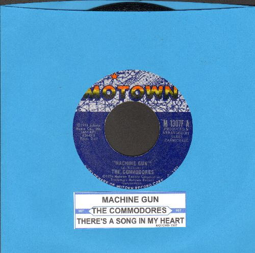 Commodores - Machine Gun/There's A Song In My Heart - NM9/ - 45 rpm Records