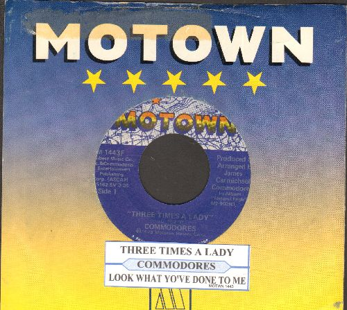 Commodores - Three Times A Lady/Look What You've Done To Me (with juke box label and Motown company sleeve) - EX8/ - 45 rpm Records