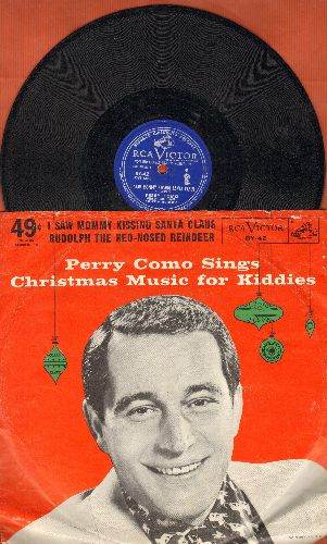 Como, Perry - I Saw Mommy Kissing Santa Claus/Rudolph The Red-Nosed Reindeer (10 inch 78rpm record with picture cover) - VG7/VG7 - 78 rpm