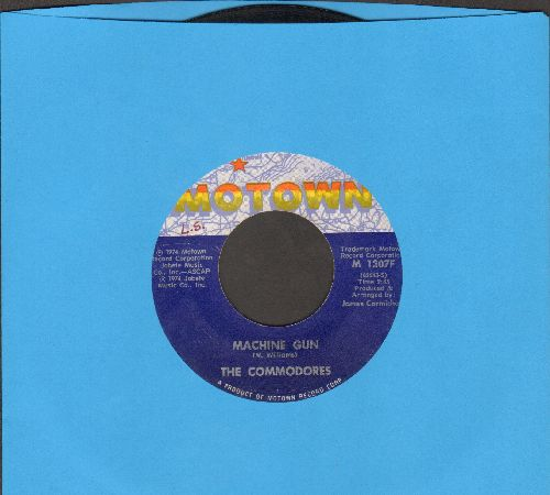 Commodores - Machine Gun/There's A Song In My Heart - VG7/ - 45 rpm Records