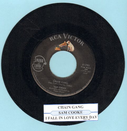 Cooke, Sam - Chain Gang/I Fall In Love Every Day (with juke box label) - EX8/ - 45 rpm Records