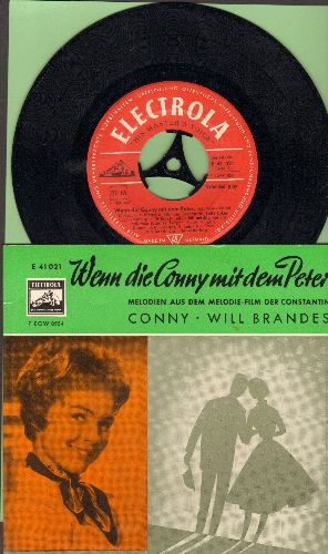 Conny (Froboess) - Wenn die Conny mit dem Peter: Jolly Joker/Ich mochte mit dir traumen/Teenager Melodie/Hey Boys - how do you do? (vinyl EP record with picture cover, German pressing, sung in German) - EX8/EX8 - 45 rpm Records