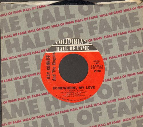 Conniff, Ray & The Singers - Somewhere, My Love (from film -Dr. Zhivago)/Lookin' For Love (re-issue with Columbia company sleeve) - NM9/ - 45 rpm Records