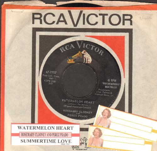 Clooney, Rosemary - Watermelon Heart/Summrtime Love (with juke box label and RCA company sleeve) - NM9/ - 45 rpm Records