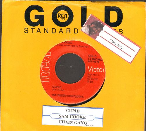 Cooke, Sam - Cupid/Cain Gang (double-hit re-issue with juke box label and RCA company sleeve) - EX8/ - 45 rpm Records