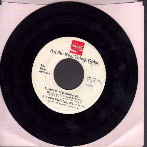 New Seekers - It's The Real Thing. Coke. Buy The World A Coke/Little Bit Of Sunshine/It's The Real Thing - RARE Promo 45rpm record with 3 60 second Coca Cola Radio Commercial Jingles by The New Seekers - VG6/ - 45 rpm Records