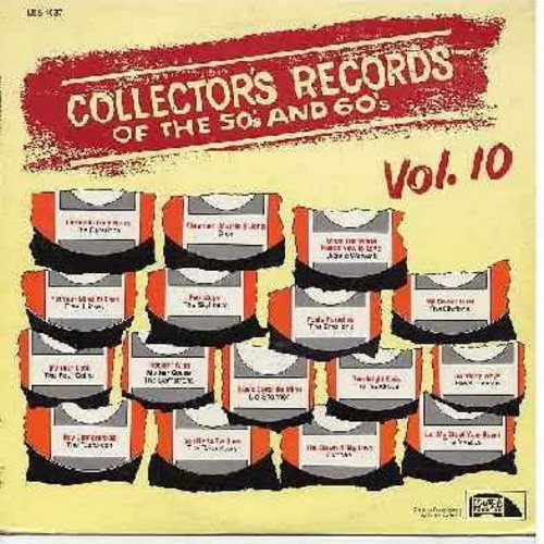 Skyliners, Emotions, Chiffons, Teardrops, others - Collector's Records of the 50s & 60s Vol. 10: Sue's Gotta Be Mine, Fool's Paradise, My Sweet Lord, Goodnight Elvis, So Many Ways (Vinyl LP record, 1981 issue of original vintage hit recordings) - NM9/EX8