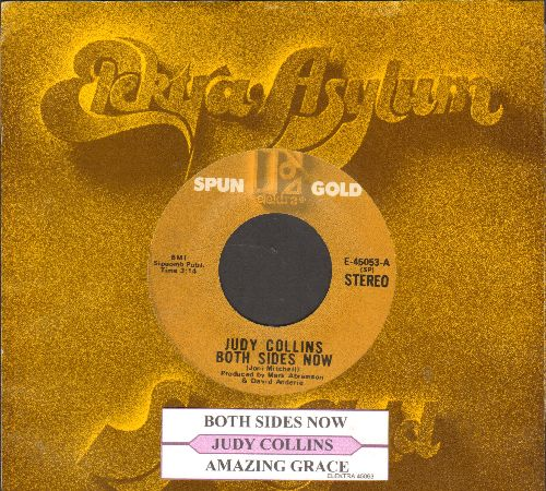 Collins, Judy - Both Sides Now/Amazing Grace (MINT condition double-hit re-issue with juke box label and company sleeve) - NM9/ - 45 rpm Records