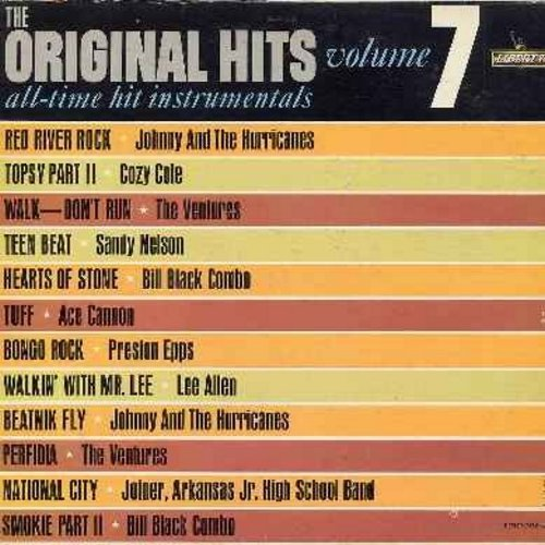 Cole, Cozy, Ventures, Sandy Nelson, others - Original Hits Vol. 7: Topsy Part 2, Walk - Don't Run, Perfidia, Teen Beat, Beatnik Fly (vinul MONO LP record, DJ advance copy) - NM9/EX8 - LP Records