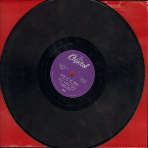 Cole, Nat King - Angel Smile/Back In My Arms (10 inch 78 rpm record) - EX8/ - 78 rpm
