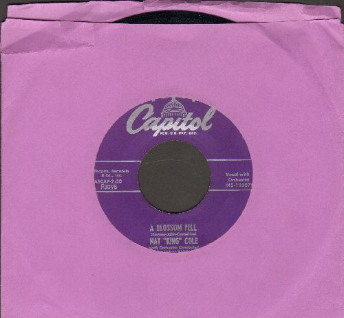 Cole, Nat King - A Blossom Fell/If I May - EX8/ - 45 rpm Records