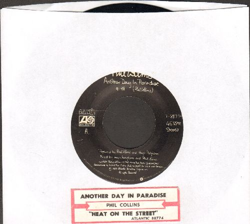 Collins, Phil - Another Day In Paradise/Heat On The Sheet (with juke box label) - NM9/ - 45 rpm Records