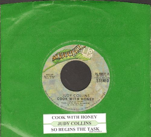 Collins, Judy - Cook With Honey/So Begins The Task (with juke box label and Elektra company sleeve) - NM9/ - 45 rpm Records