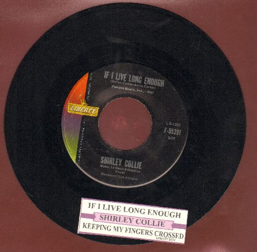 Collie, Shirley - If I Live Long Enough/Keeping My Fingers Crossed (with juke box label) - NM9/ - 45 rpm Records