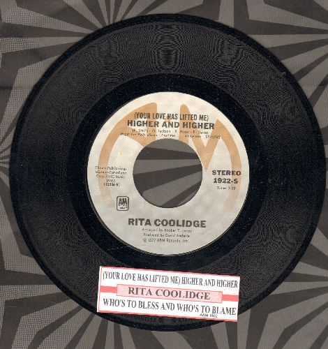 Coolidge, Rita - Higher And Higher/Who To Bless And Who's To Blame (with juke box label) - NM9/ - 45 rpm Records
