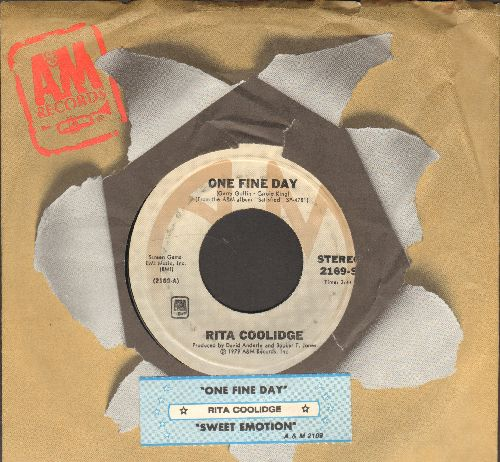 Coolidge, Rita - One Fine Day/Sweet Emotion (with juke box label and company sleeve) - NM9/ - 45 rpm Records