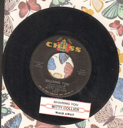 Collier, Mitty - Sharing You/Walk Away (with juke box label) - EX8/ - 45 rpm Records