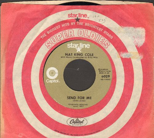 Cole, Nat King - Send For Me/Looking Back (double-hit re-issue with company sleeve) - EX8/ - 45 rpm Records