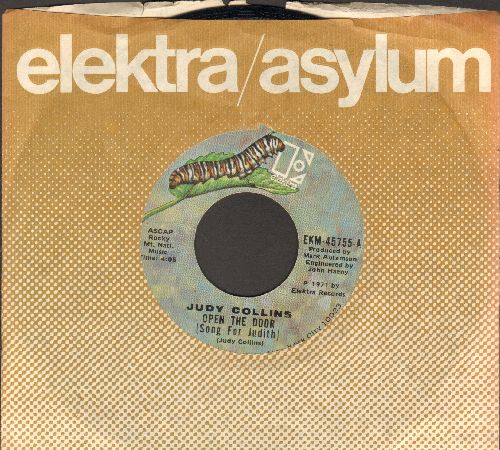 Collins, Judy - Open The Door (Song For Judith)/Innisfree (with Elektra company sleeve) - EX8/ - 45 rpm Records