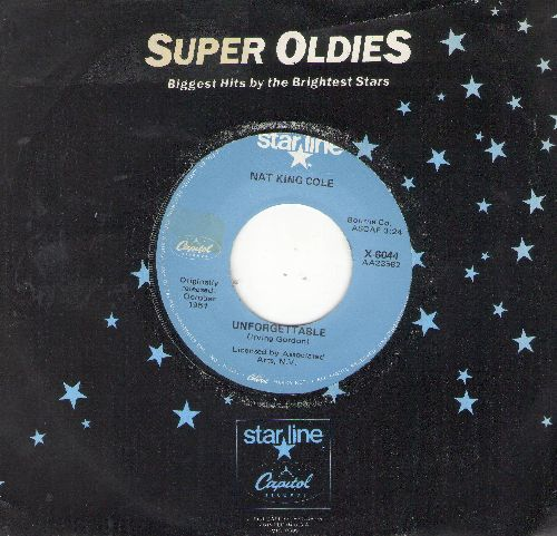 Cole, Nat King - Unforgettable/Somehwere Along The Way (double-hit re-issue) (sol) - EX8/ - 45 rpm Records