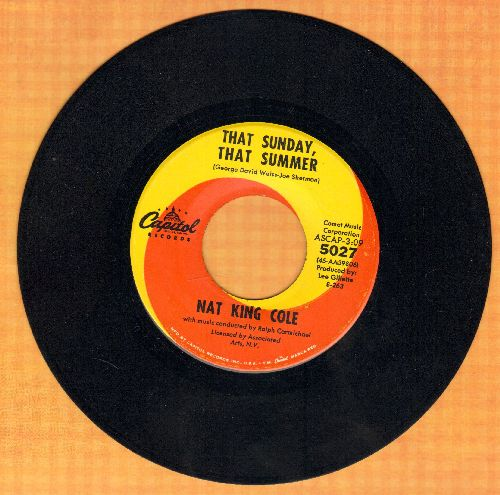 Cole, Nat King - That Sunday, That Summer/Mr. Wishing Well  - EX8/ - 45 rpm Records