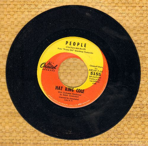 Cole, Nat King - People/I Don't Want To Be Hurt Anymore  - EX8/ - 45 rpm Records
