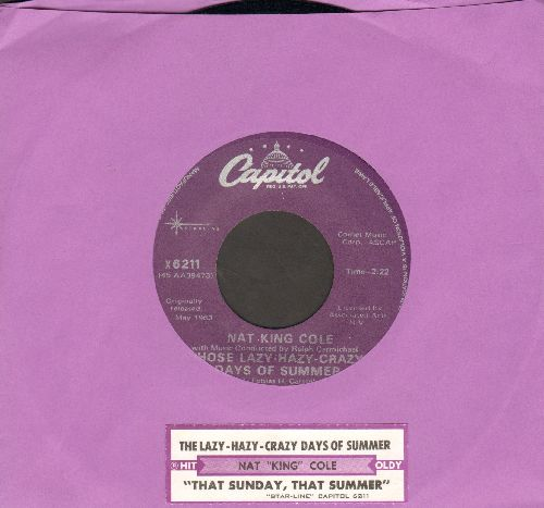 Cole, Nat King - That Sunday, That Summer/Those Lazy-Hazy-Crazy Days Of Summer (double-hit re-issue with juke box label) - M10/ - 45 rpm Records