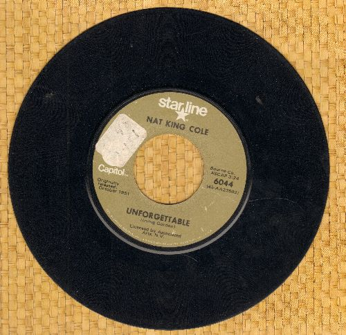 Cole, Nat King - Unforgettable/Somehwere Along The Way (double-hit re-issue) (sol) - VG7/ - 45 rpm Records