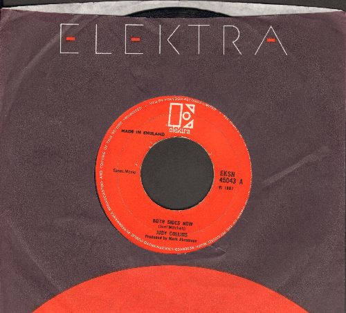 Collins, Judy - Both Sides Now/Hey, That's No Way To Say Goodbye (British Pressing with company sleeve) - EX8/ - 45 rpm Records