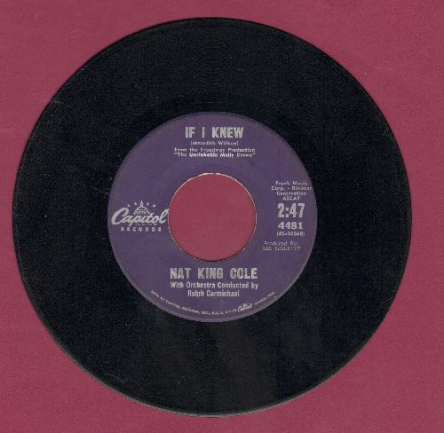 Cole, Nat King - If I Knew/The World In My Arms - VG7/ - 45 rpm Records