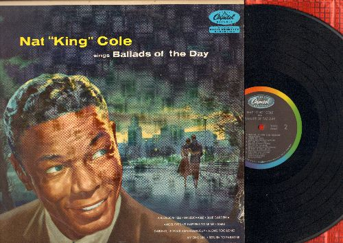 Cole, Nat King - Ballads Of The Day: Smile, Darling Je Vous Aime Beaucoup, Return To Paradise, Unbelievable, Angel Eyes (Vinyl MONO LP record, rainbow-circle label) - NM9/EX8 - LP Records