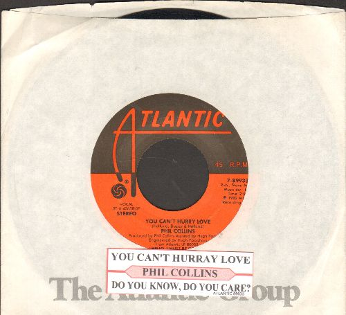 Collins, Phil - You Can't Hurry Love/Do You Know, Do You Care? (with juke box label and company sleeve) - EX8/ - 45 rpm Records