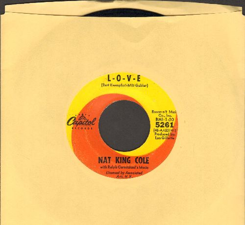 Cole, Nat King - L-O-V-E/I Don't Want To See Tomorrow  - EX8/ - 45 rpm Records