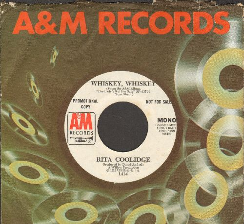 Coolidge, Rita - Whiskey, Whiskey (double-A-sided DJ advance pressing with A&M company sleeve) - NM9/ - 45 rpm Records
