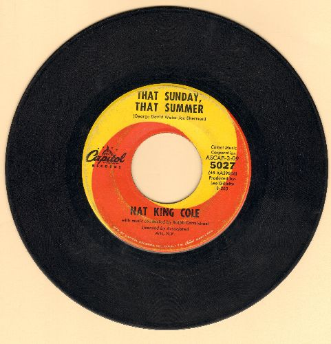 Cole, Nat King - That Sunday, That Summer/Mr. Wishing Well  - VG7/ - 45 rpm Records