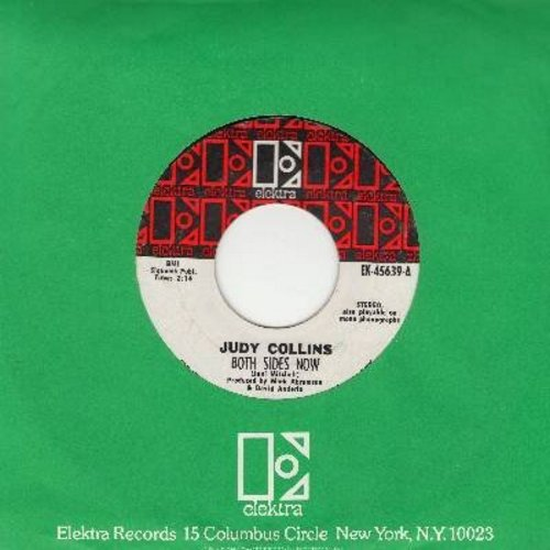 Collins, Judy - Both Sides Now/Who Knows Where The Time Goes (with Elektra company sleeve) - NM9/ - 45 rpm Records