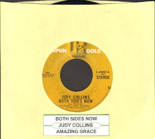 Collins, Judy - Both Sides Now/Amazing Grace (double-hit re-issue with juke box label) - NM9/ - 45 rpm Records