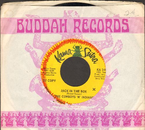 Cowboys 'n' Indians - Jack In The Box/Vanilla Days & Chocolate Nights (DJ advance pressing with Buddah company sleeve) - VG7/ - 45 rpm Records