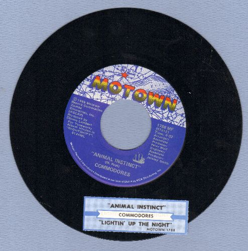 Commodores - Animal Instict/Lighten Up The Night (with juke box label) - NM9/ - 45 rpm Records