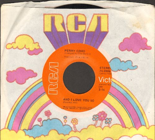 Como, Perry - And I Love You So/Love Looks So Good On You (with vintage RCA company sleeve) - NM9/ - 45 rpm Records