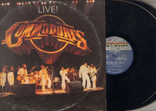 Commodores - LIVE!: Brick House, Come Inside, Won't You Come Dance With Me, Easy, Too Hot To Trot (2 vinyl STEREO LP record set, gate-fold cover) - NM9/VG7 - LP Records