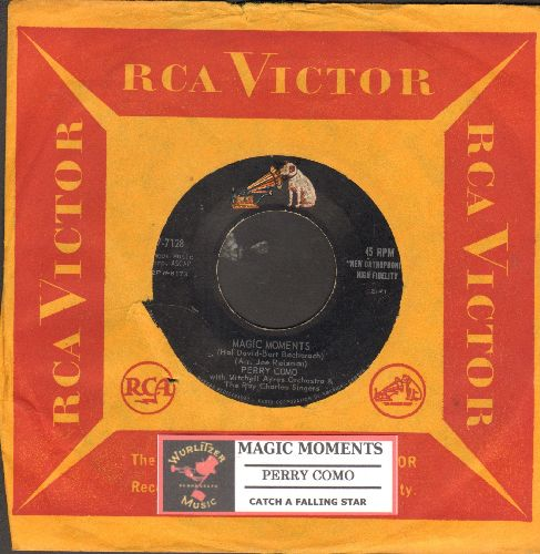 Como, Perry - Magic Moments/Catch A Falling Star (with juke box label and vintage RCA company sleeve) - EX8/ - 45 rpm Records
