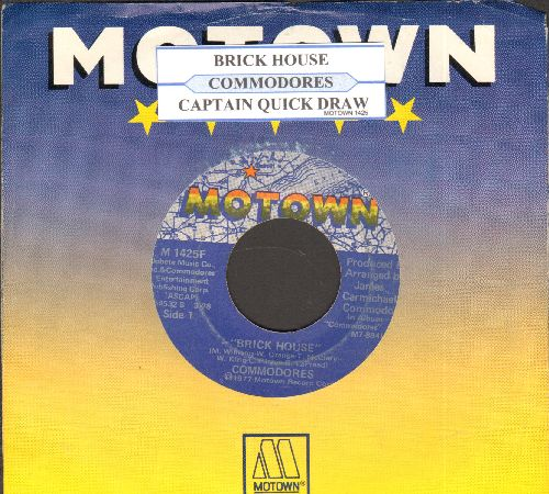 Commodores - Brick House/Captain Quick Draws (with juke box label and Motown company sleeve) - VG7/ - 45 rpm Records