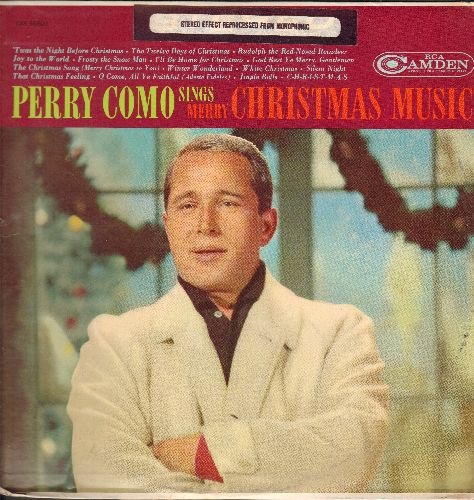 Como, Perry - Perry Como Sings Merry Christmas Music: I'll Be Home For Christmas, Jingle Bells, Winter Wanderland, White Christmas (vinyl STEREO LP record, re-issue of vintage recordings) - EX8/EX8 - LP Records