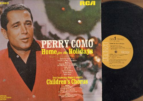 Como, Perry - Home For The Holidays: Jingle Bells, Silent Night, Ave Maria, Joy To The World (vinyl STEREO LP record) - NM9/EX8 - LP Records
