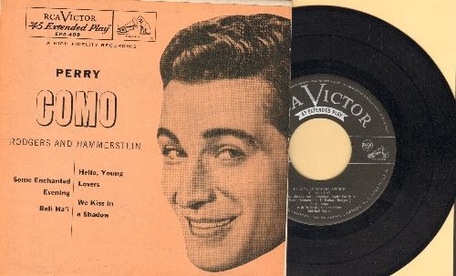 Como, Perry - Some Enachanted Evening/Bali Ha'i/Hello Young Lovers/We Kiss In A Shadow (with picture sleeve) - NM9/EX8 - 45 rpm Records
