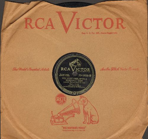 Como, Perry - You Must Have Been A Beautiful Baby/A Garden In The Rain (10 inch 78 rpm record with RCA Victor company sleeve) - EX8/ - 78 rpm