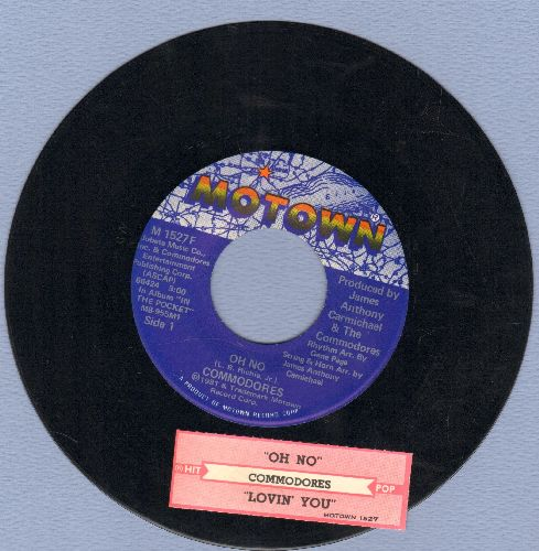 Commodores - Oh No/Lovin' You (with juke box label) - NM9/ - 45 rpm Records